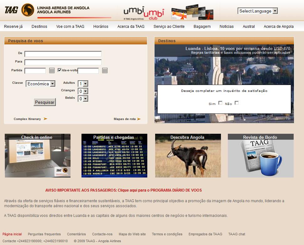 TAAG Linhas aereas de Angola