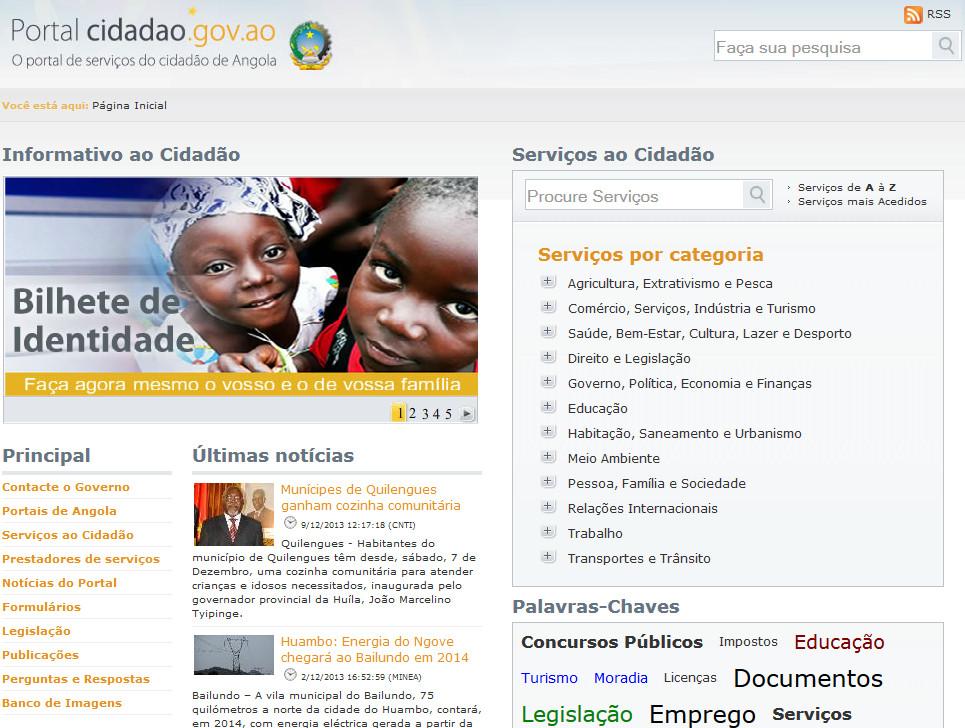 Portal do cidadao de Angola